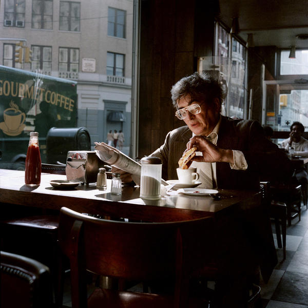 Dunking Sandwich into Coffee, New York City, 1985