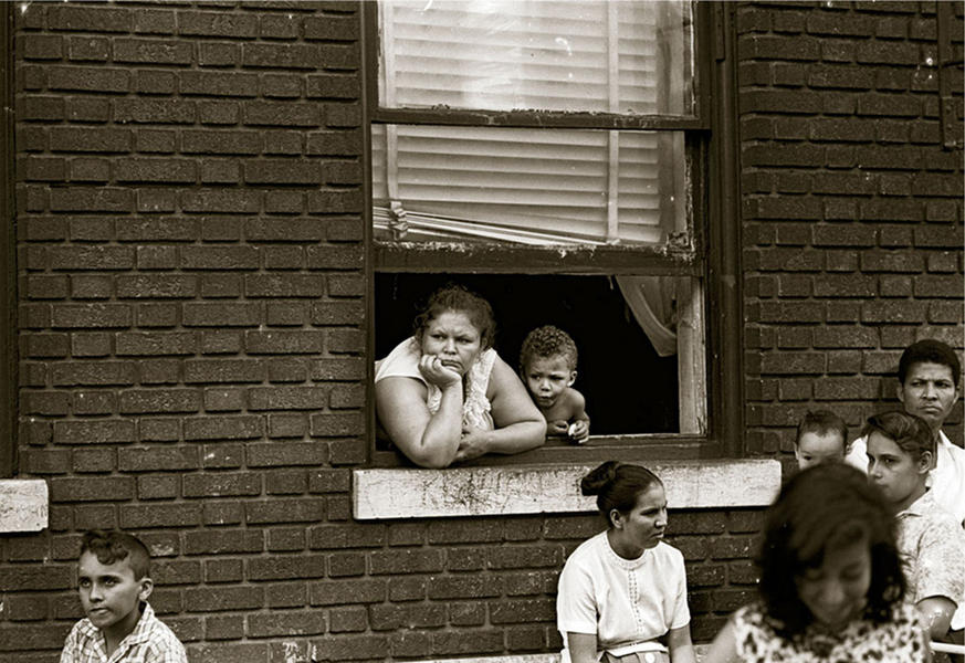 At Pentecost street service, Brooklyn, 1964