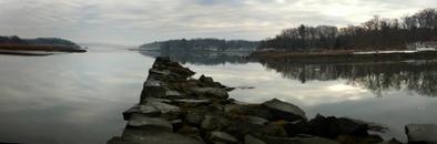 Fog, Little River (7 stitched images)