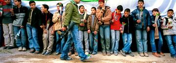 Welcoming ceremony, Jenin refugee camp