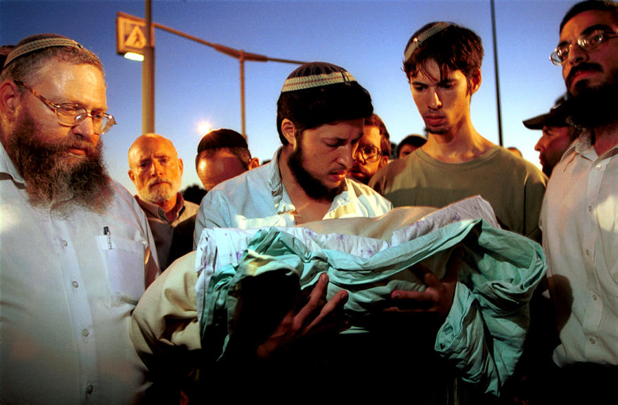 Slain baby funeral, Jerusalem