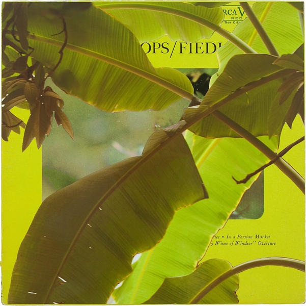 Field Ops, mixed media on vintage album cover