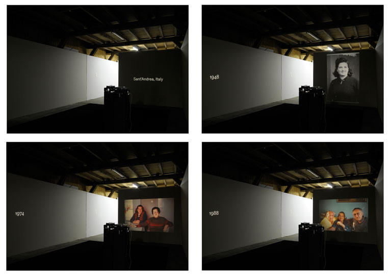 Libero - Installation of 4 slide projectors
