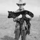 Carl with calf, Chase County, Kansas