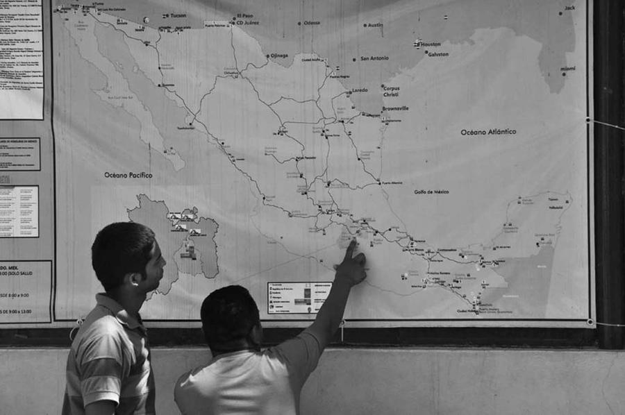 Routes north, Ixtepec shelter, 2015