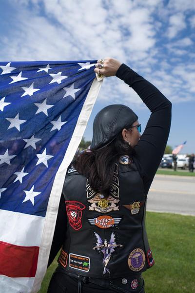 Patriot Guard Rider member