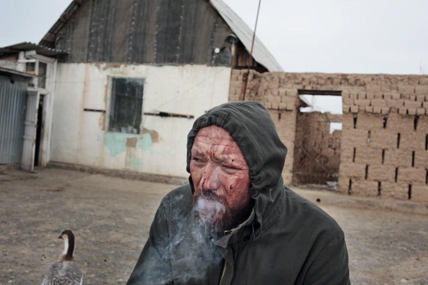 Kostya after the ritual, from Apashka series