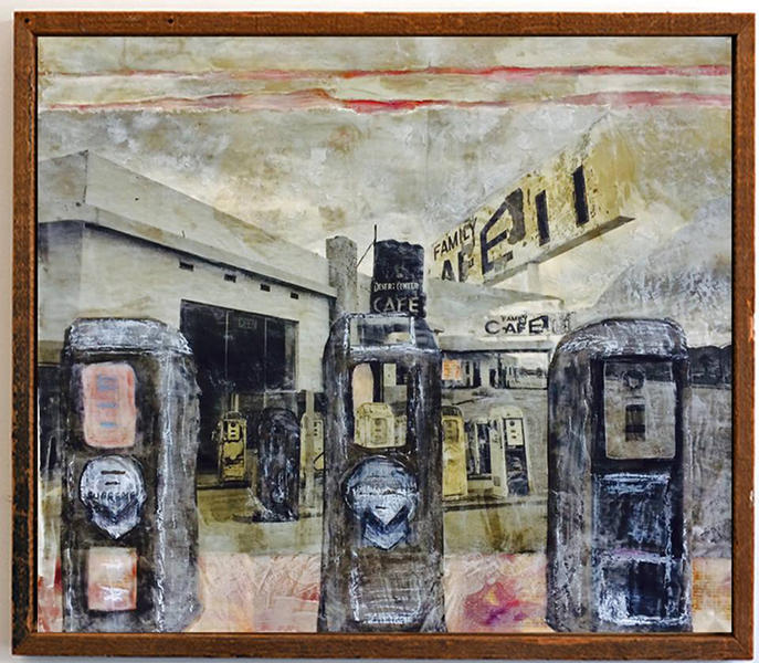 Gas Station, Desert Center, CA 2014 30' x 30'
