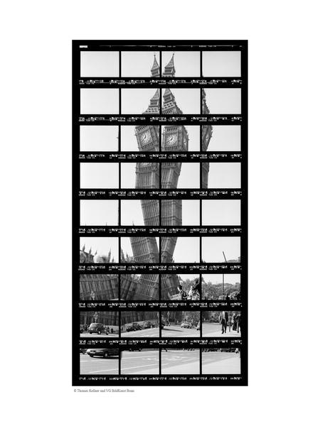 14#01, London, Big Ben, 1999, BW-Print, 15,3 x 31,