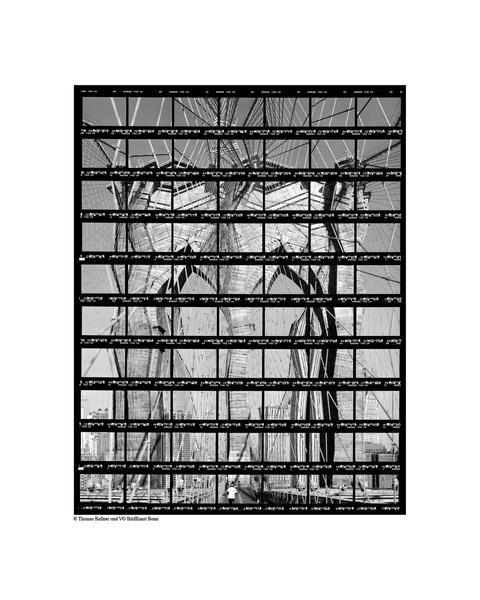 40#28, New York, Brooklyn Bridge, 2003, BW-Print,