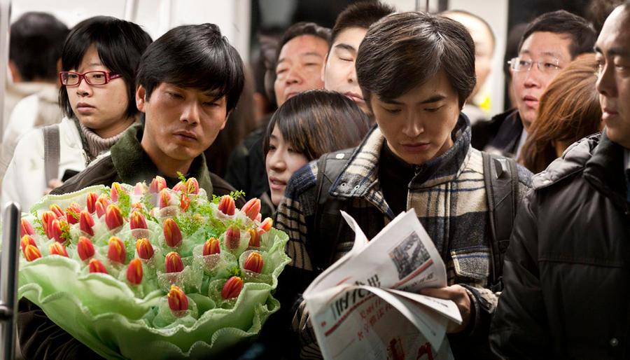 China  Shanghai  Tulips  Mega City