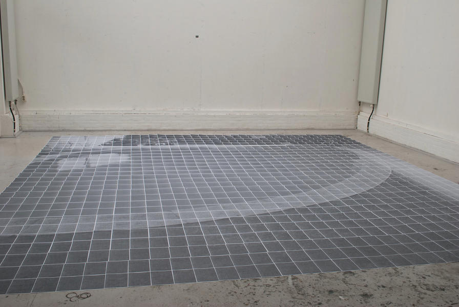 One Swimming Pool (sketch for installation, 2013)