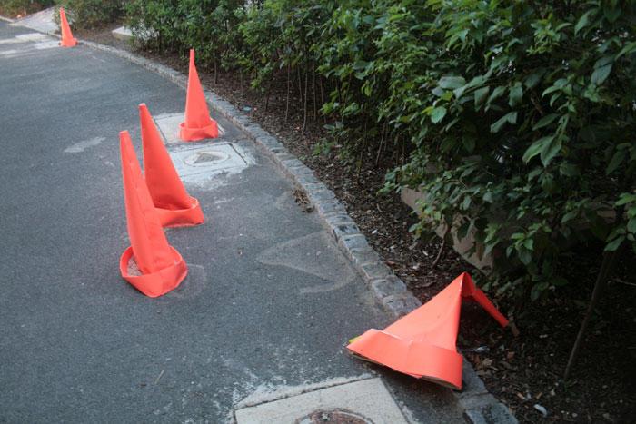 sad traffic cones, 2009