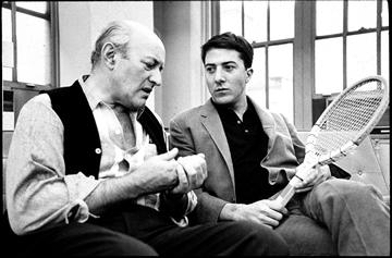 Actor Dustin Hoffman with Lee J. Cobb, 1961.