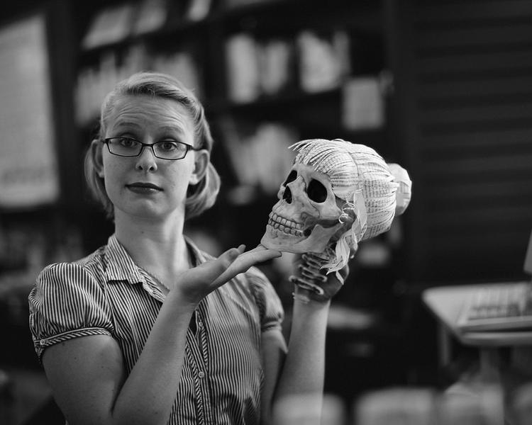 Kate and Skull, Annie Bloom's Books, Portland, OR