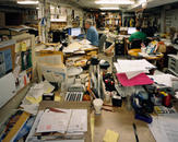 Basement Office, Annie Bloom's Books, Portland, OR