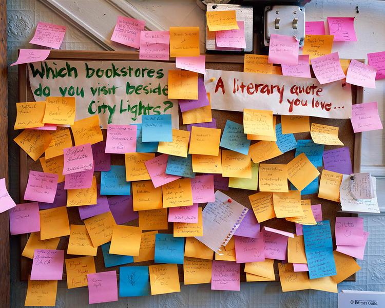 Bulletin Board, City Lights, San Francisco