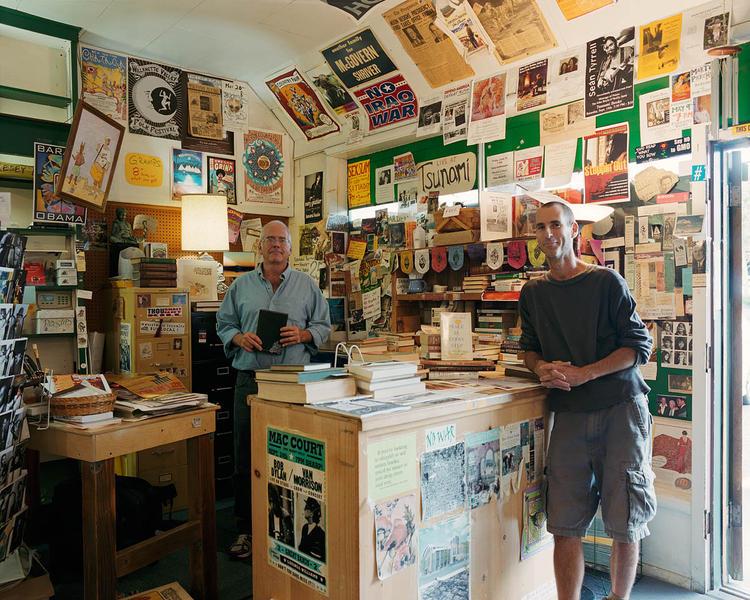 Dave and Scott, Tsunami Books, Eugene, Oregon