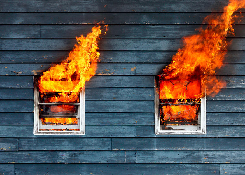 House on Fire--Belleville, WI