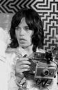 Mick Jagger on the set of