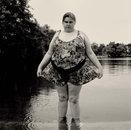 Heavy Girl in Green Lake