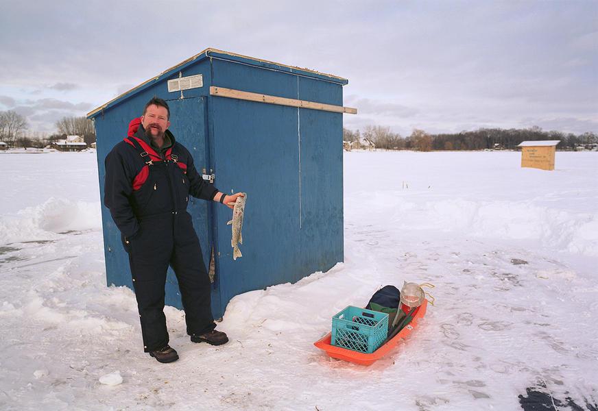 Ice Fisherman, Lake Fenton
