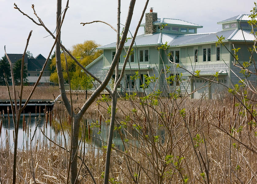 Ruth Road, home built on wetlands