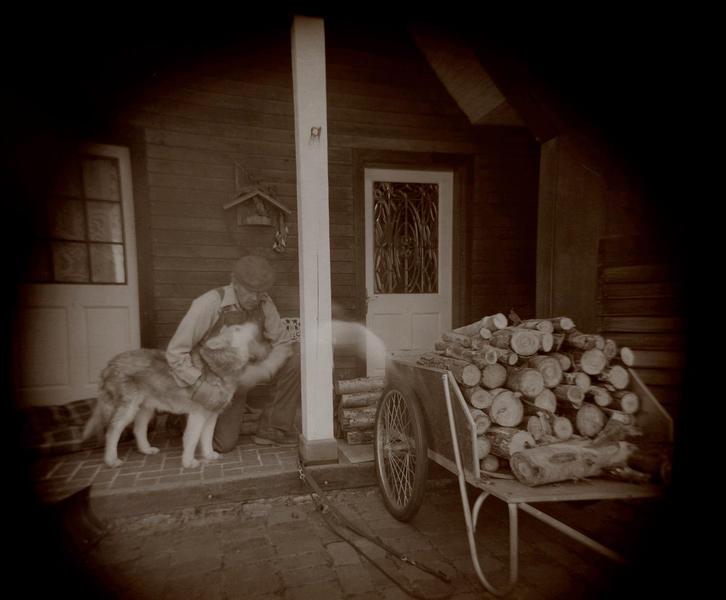 Ritual Gathering Wood