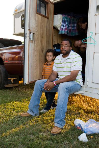 Family at Black Cowboy Rodeo