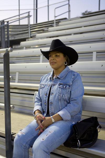Woman at Black Cowboy Rodeo