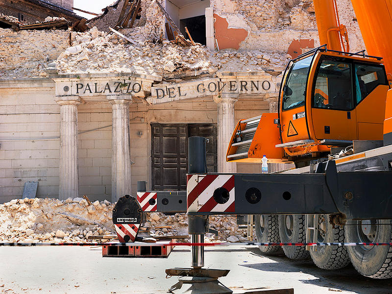 Governor's Palazzo, L'Aquila, Italy, 2009