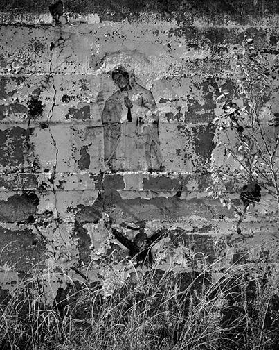 Fading Guadalupe, Grafitti at ore mill, Fierro, NM