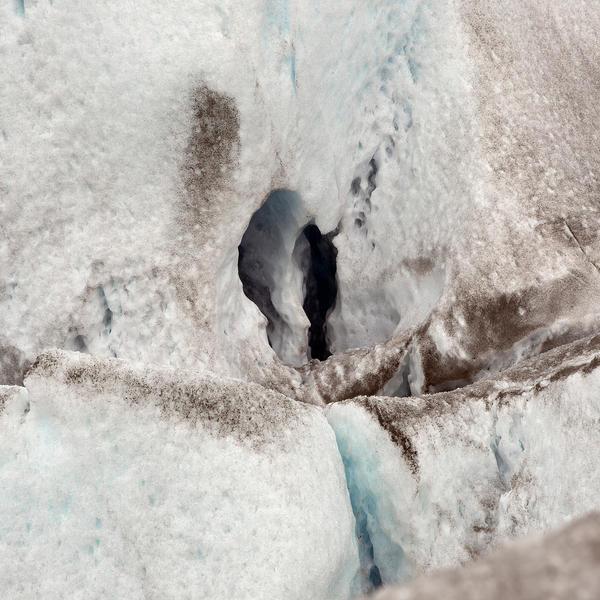 Viedma Crevasse 3  30 x 30 inches  2015