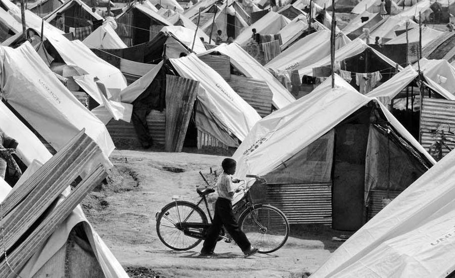 Tsunami tent camp