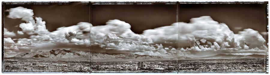 Panorama of Thunderstorms over Tucson, 2006