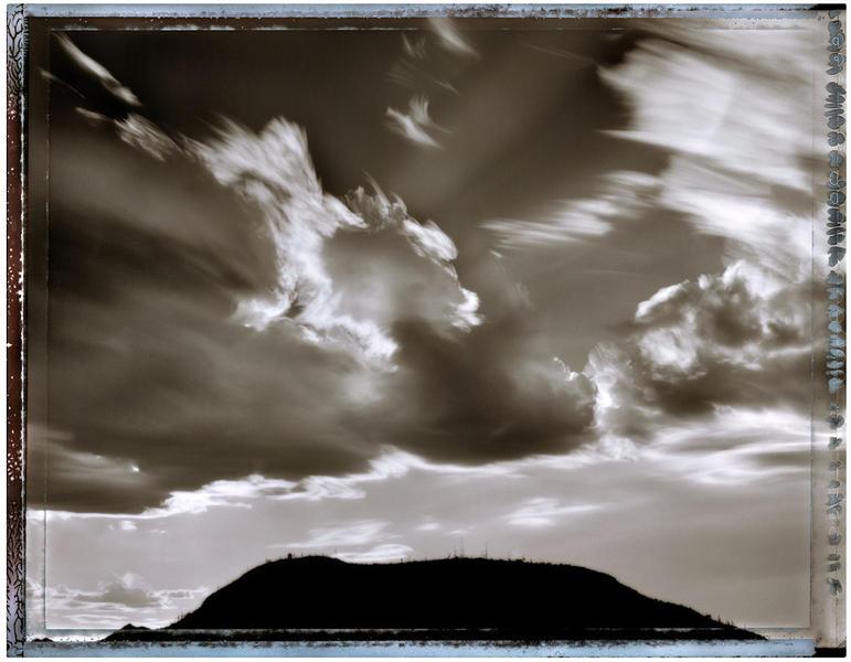 Stormclouds over Tumamoc Hill, Tucson, AZ