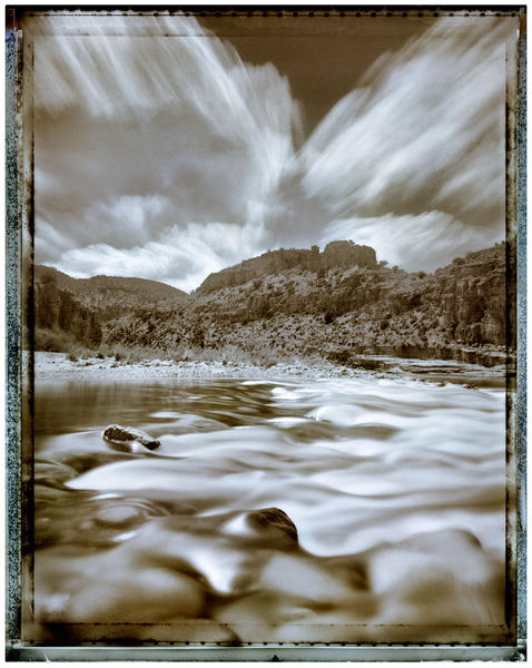 Salt River Rapids and Approaching Storm
