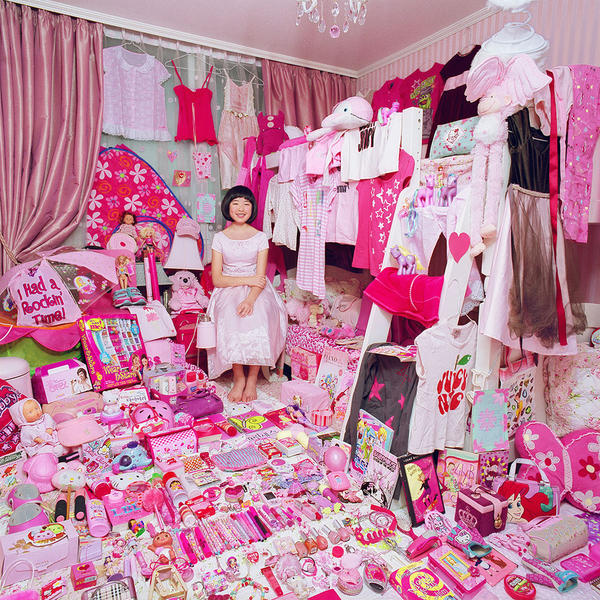 Hyojung and Her Pink Things, Light jet Print, 2009