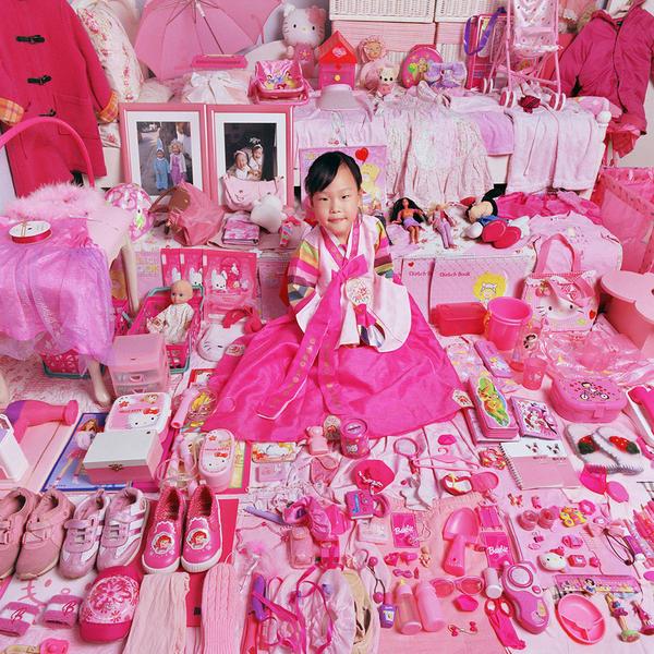 Yerim and Her Pink Things, Light jet Print, 2005
