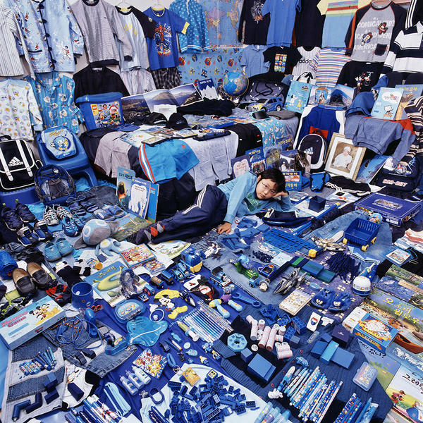 Jeonghoon and His Blue Things, Light jet Print, 20