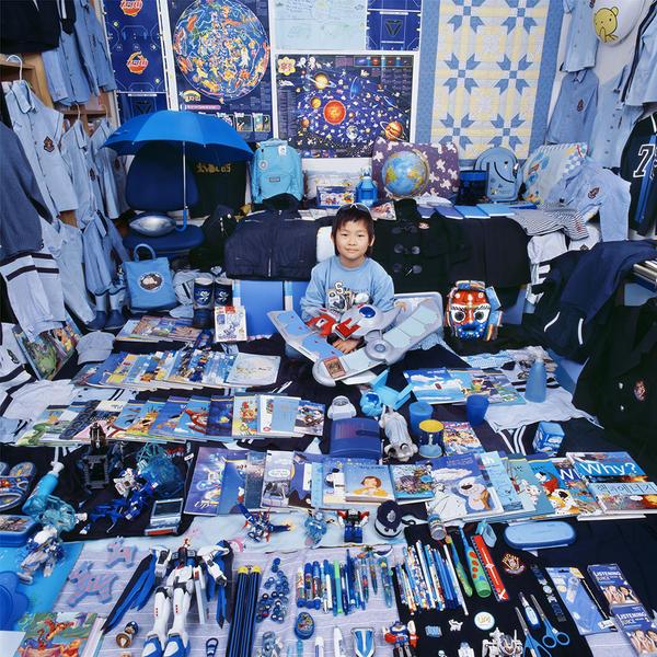 Joohun and His Blue Things, Light jet Print, 2007