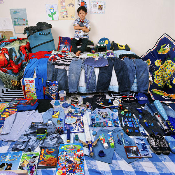 Seok-June and His Blue Things, Light jet Print, 20