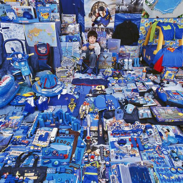 Seunghyuk and His Blue Things, Light jet Print, 20