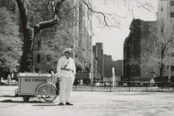Good Humor Man, looking into Stuyvesant town, 1961