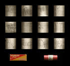 12 Laser etched film negatives, archival materials