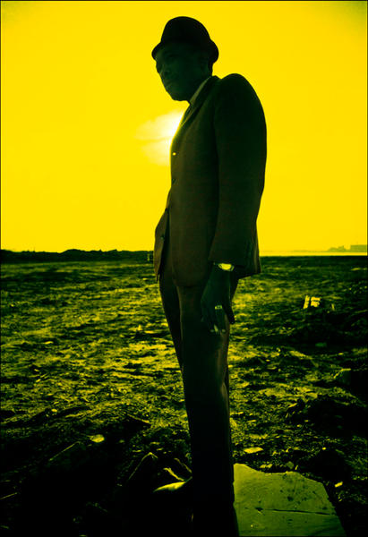 John Lee Hooker, Aero infrared film, NYC, 1969.