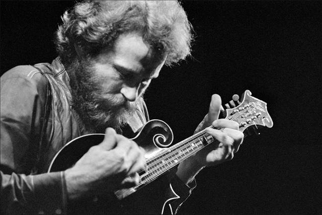 Levon Helm and mandolin, 1969.