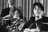 John Lennon, Paul McCartney press conference, 1969