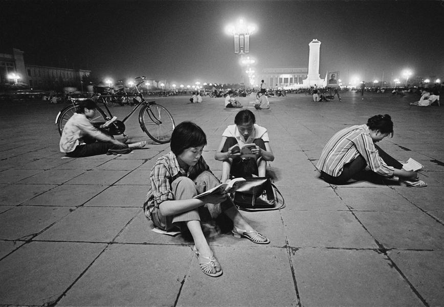 Studying Under Street Lights, Beijing, China