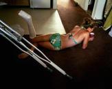 Kristi Convalescing, 2005